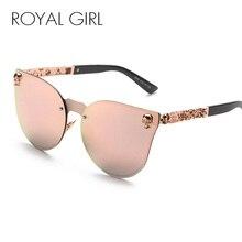 2015 Vintage Women Cat Eye Sunglasses Metal Frame Star carving Flower Sunglasses Mirror Glasses oculos de sol feminino ss147 цены онлайн