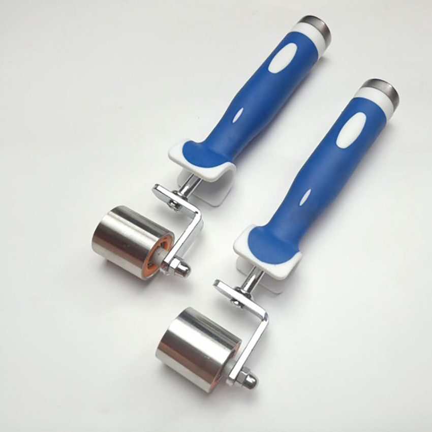 Stainless Steel Seam Flat Pressure Roller Double Bearing Deep Texture Hand Pressure Seam Roller Wallpaper Wall Covering Tool