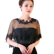 879cddb3d1 Lace Women Cape High Low Sheer Summer Beach Tulle Wedding Wrap Bridal  Bridesmaids Cover Up Shawl