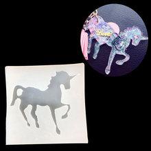 Единорог Лошадь Бисероплетение литье кулон формы Прозрачная