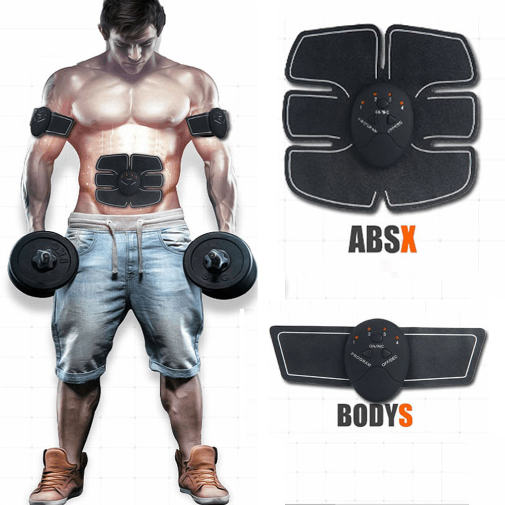 Muscle Massager Training Body Shape Fit Set ABS Six Pad Massage Trainer Sticker Controlle ...