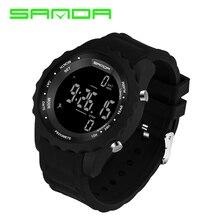 Новинка года SANDA цифровой шагомер спортивные часы для мужчин Военная мода Водонепроницаемый светодиодный электронный Chrono фитнес Relogio Masculino