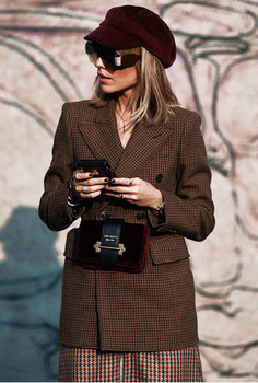 AEL Women Winter Autumn Plaid Woolen Suit Jacket 2017 Grace Female Coat Fashion Lattice Slim Waist Office Lady Clothing 2