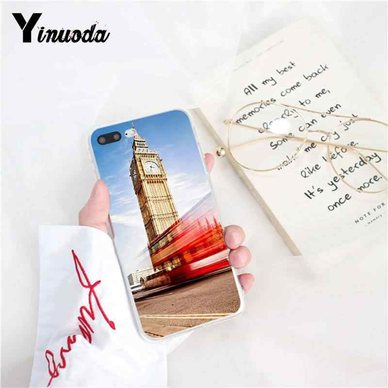 Yinuoda London bus england telephone vintage british TPU Soft Phone Case  for iPhone 8 7 6 6S Plus X XS MAX 5 5S SE XR 10 Cases