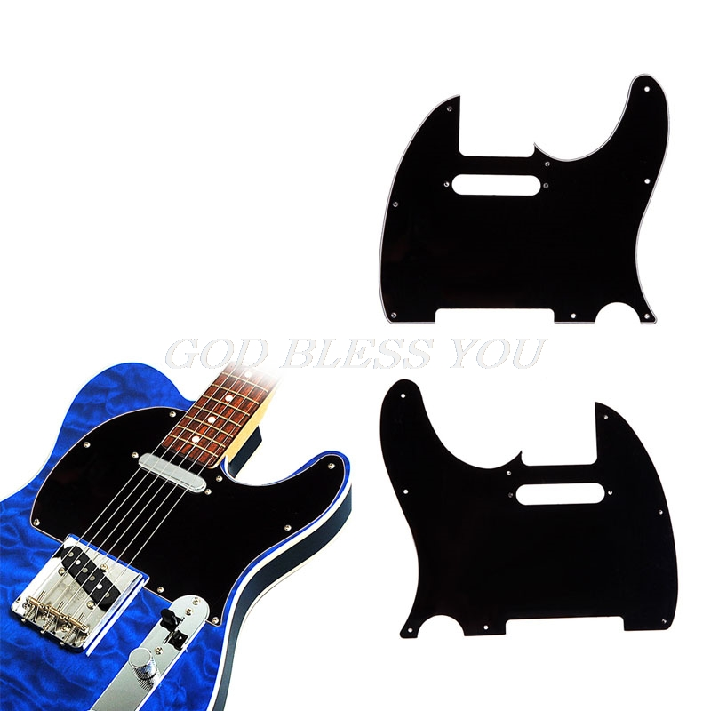3 Ply Tele Style Electric Guitar Pick Guard Scratch Plate Fit Telecaster Black
