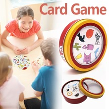 New Funny Spot Board Game 55 Cards/set Paper English Card Game Metal Box Family Party Entertainment Board Games for Adults Child speak out board game mouthguard ridiculous challenge game home family funny toy christmas birthday gift new in box