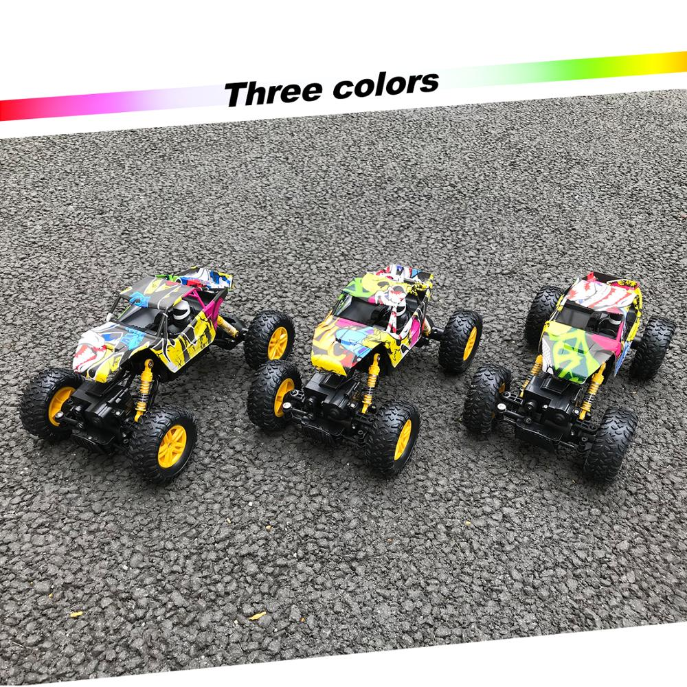 Image 4 - Remote Control Car 2.4GHz 4WD Off Road High Speed RC Car 1/18 Dual Motors Rock Crawler Graffiti Racing Monster Truck-in RC Cars from Toys & Hobbies