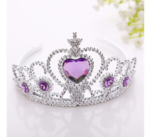 Brinco Headdres2017 Royal Crown Prata Imitação de Strass Tiara Tiaras De Casamento De Strass Acessórios Vestido De Princesa