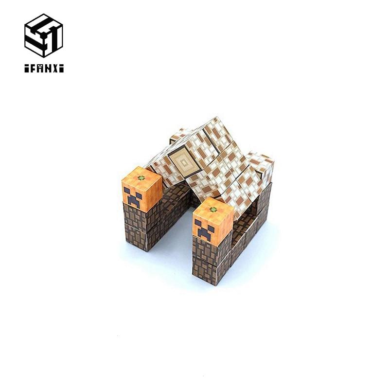 30 grãos gosto fresco minecraft modelos de blocos de construção magnética tijolos pasta mão compatível com lego diy brinquedo log cabine