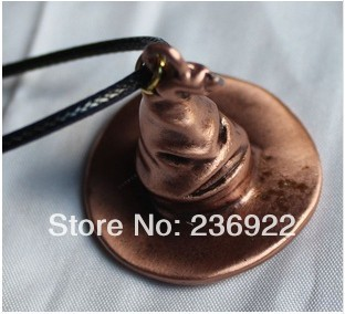 20pcs/lot Wholesale HP Inspired Hogwarts Sorting Hat pendant Necklace Movie Charm jewelry,original factory supply