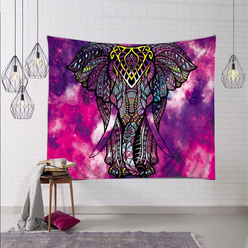 Regal Elephant in Cosmos Tapestry / Sofa Cover / Ceiling Hanging + AAEONIX Energy Balancing Kit