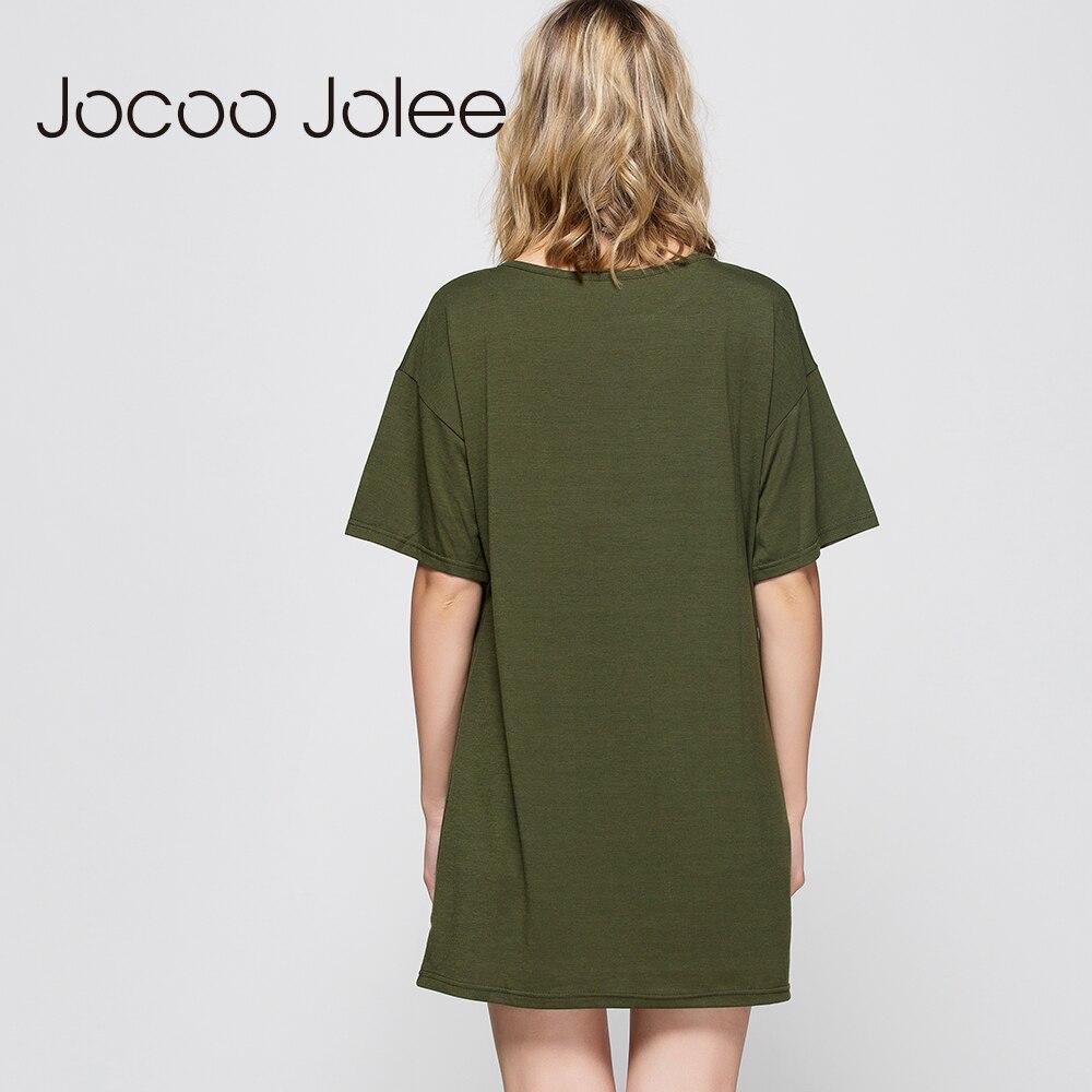 Jocoo Jolee Solid Pierced Hole T-shirt- ի Կանանց - Կանացի հագուստ - Լուսանկար 5