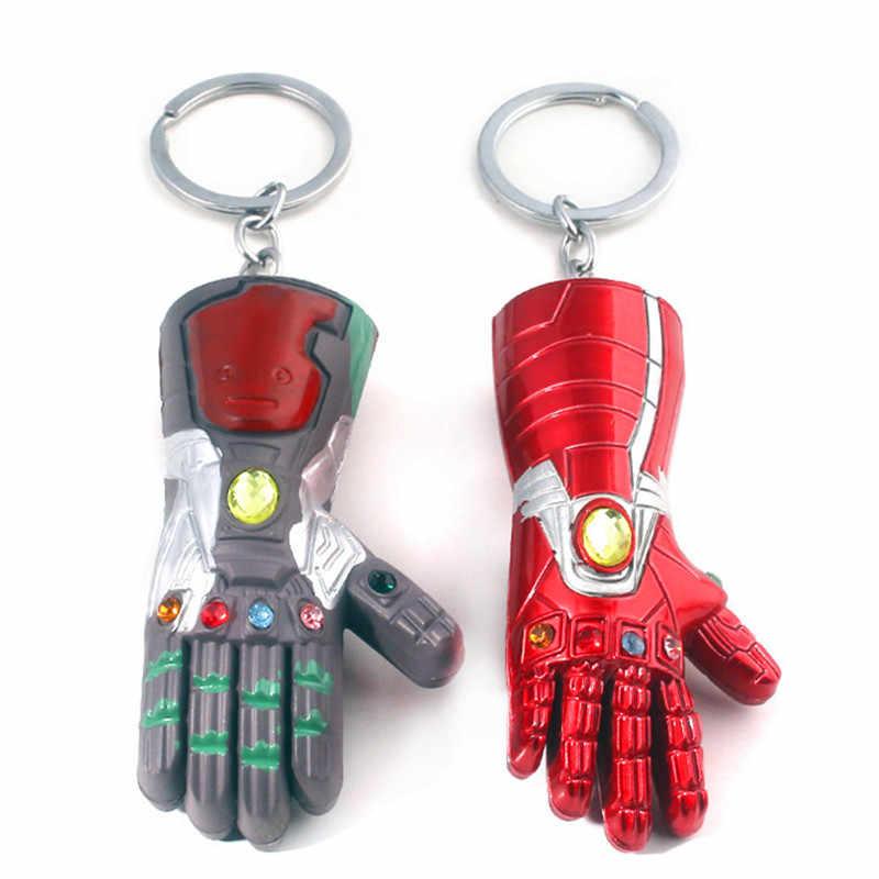 Rongji jóias New 4 Vingadores da marvel homem de ferro luvas gauntlet atinge dedo guantelet Keychain liga de zinco Jóias Acessórios Do Carro