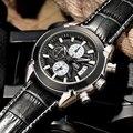 Homens Relógios Top Marca de Luxo Popular JEDIR Esporte Quente Relógio Cronógrafo de quartzo Homens Relógios Preto Masculino Whatch Erkek Kol Saati megir