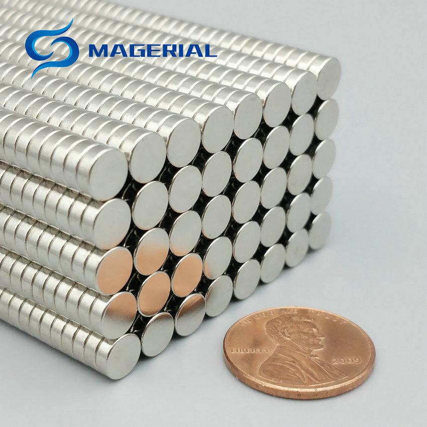 1 pack NdFeB Micro Magnet Disc Diameter 6x2 mm 0.236 Precision Magnet Neodymium Magnets Sensor Rare Earth Magnets Grade N42 earth 2 vol 6