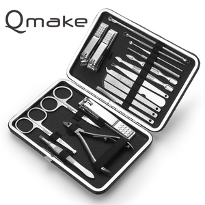 Image 5 - All Complete 18 Piece Manicure Set Professional nail clipper Kit of Pedicure Tools Paronychia Nippers Trimmer Beauty Gift