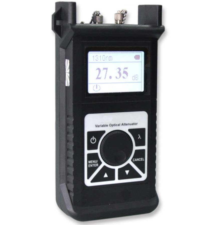 FirstFiber FF-3303 Optical Variable Attenuator OVA Digital Optical Fiber Attenuator, 1310/1490/1550/1625nm, 2.5dB to 60dBFirstFiber FF-3303 Optical Variable Attenuator OVA Digital Optical Fiber Attenuator, 1310/1490/1550/1625nm, 2.5dB to 60dB