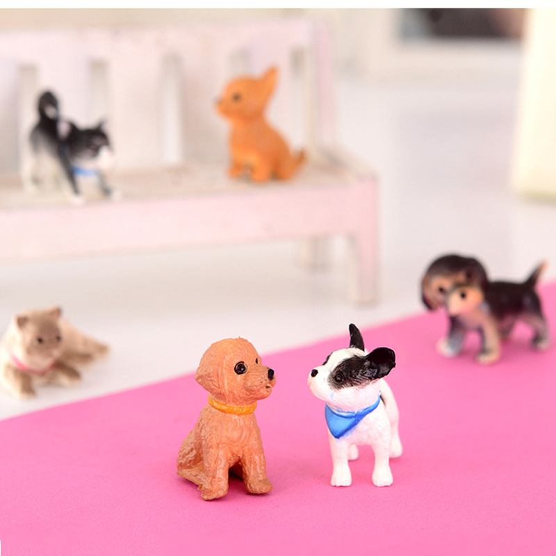 6pcs anime figure action set PVC dog cat toys 1 4 action figure cartoon cute mini girl toys for children home desk anime goods in Action Toy Figures from Toys Hobbies