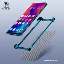 OATSBASF กรอบโลหะหรูหรารูปร่างกันกระแทกสำหรับ OPPO ค้นหา X ป้องกันกรณีการออกแบบ Push Pull ฝาหลังโทรศัพท์กันชน
