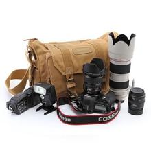 Профессиональный dslr холст Камера сумка для путешествий Фото Сумка рюкзак на одно плечо для Sony Canon Nikon Olympus