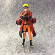 Anime Naruto Uzumaki Naruto Three Generations Ver PVC Action Figure Collectible Model doll toy 14cm SHF