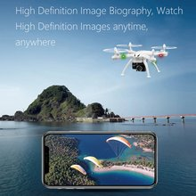 X6S RC Drone 4CH WiFi FPV 4K/1080P HD Camera Flight Pressure Hover Helicopter Headless Mode with 2/3 Battery