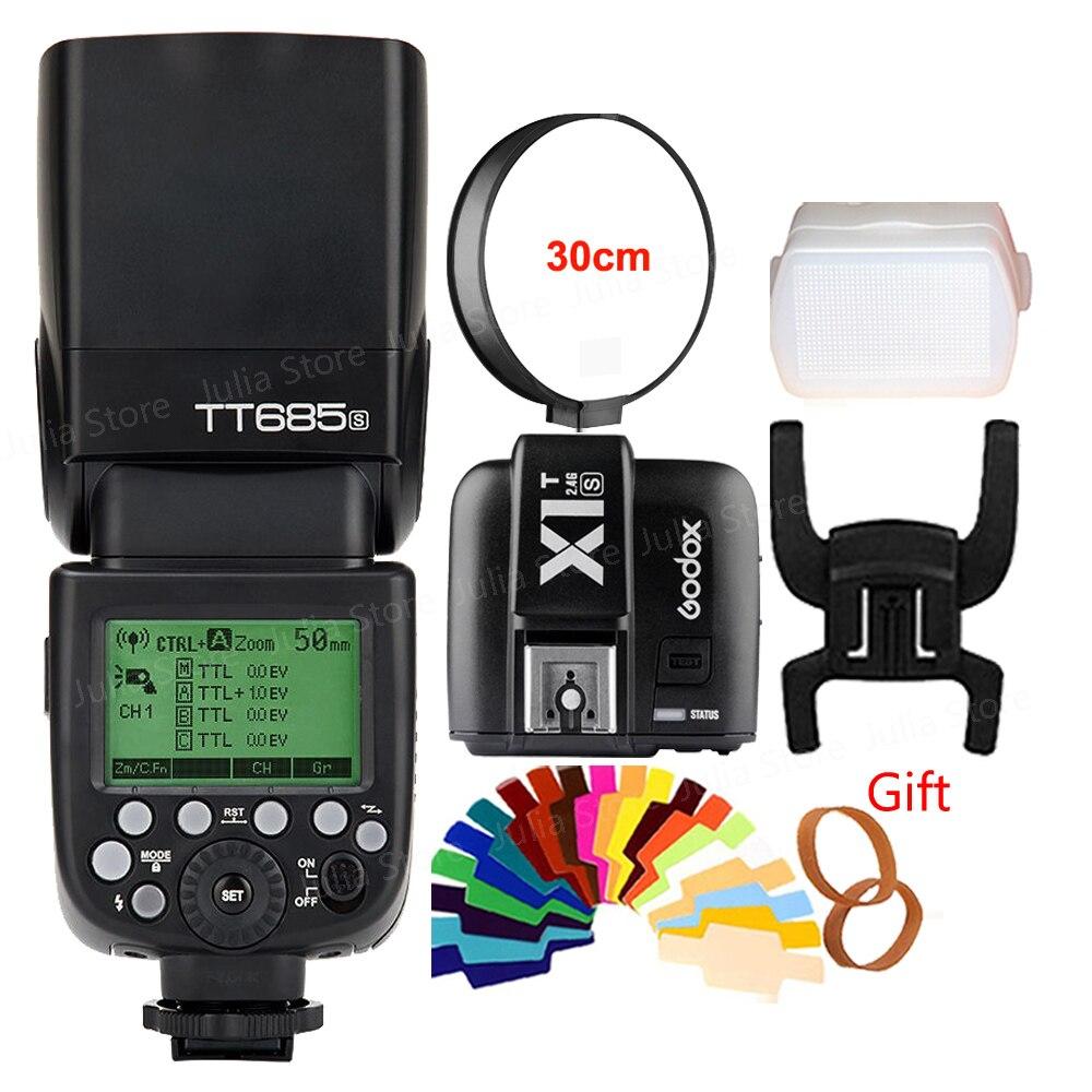 Godox TT685S HSS 1/8000 S GN60 TTL Flash Speedlite avec X1T-S TTL Sans Fil Transmetteur Déclencheur Flash pour Sony Appareils Photo REFLEX Numériques