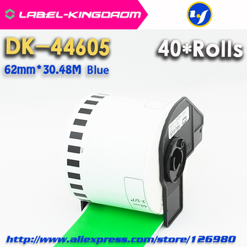 40 Rolls Brother Compatible DK-44605 Labels 62mm*30.48M Green Color Compatible for QL-700/720NW All Come With Plastic Holder