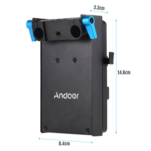 Image 3 - Andoer V Mount V lock Battery Plate Adapter for BMCC BMPCC Canon 5D2/5D3/5D4/80D/6D2/7D2 with Dummy Battery Adapter Photography