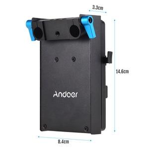 Image 3 - Andoer V جبل V قفل لوح بطارية محول ل BMCC BMPCC كانون 5D2/5D3/5D4/80D/ 6D2/7D2 مع الدمية مهايئ بطارية التصوير