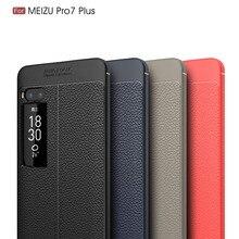 Shockproof Bumper Brushed Silicone Carbon Fiber Cases for Meizu Pro 7 Plus Cover Soft TPU Case for Meizu Pro 7 Capa Coque Etui цена и фото