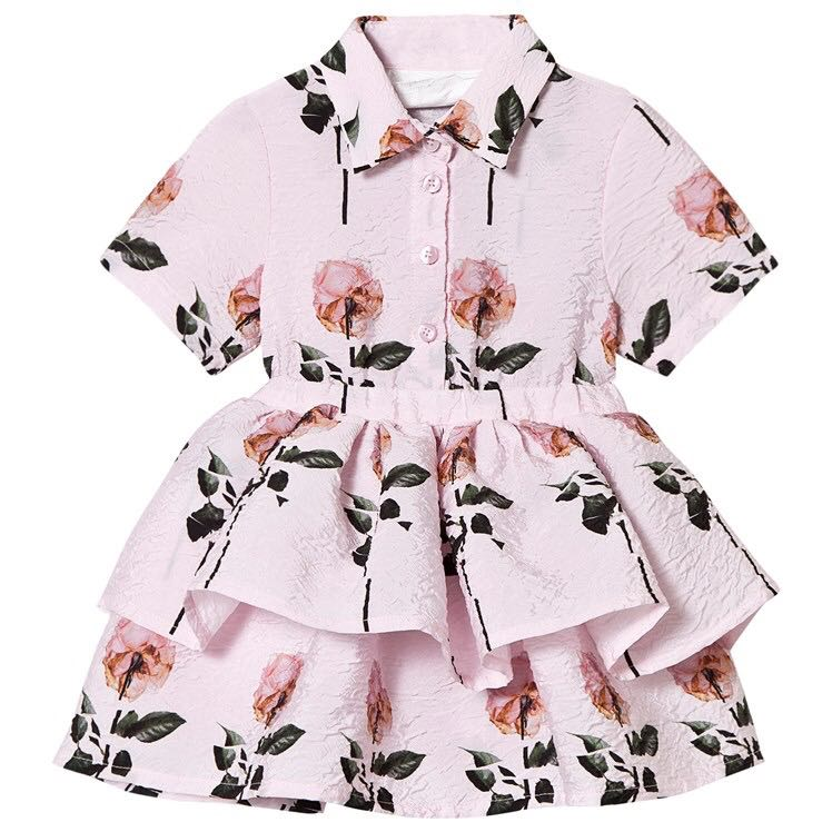 90-130cm height New 2019 Spring Summer cartoon   flower     Girls     Dress   1pc Kids Princess   Dresses   for summer   Girls     Dress