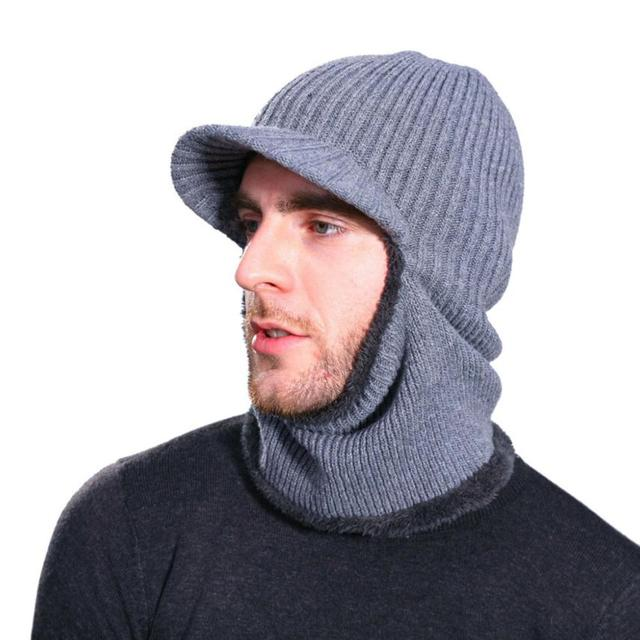 MZ5336 thickened winter outdoor thimble super warm men s hat wearing two  kinds of handsome and warm! Barrel hat hat homm 9a5bda1afca1