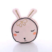 cute rabbit toy pink bunny head cotton pillow kisd toys gift for girl