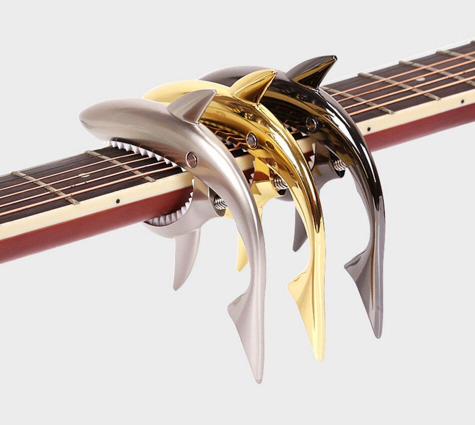 Tiburón Diseño Capo Capo para Guitarra Folk Acústica Guitarra De Madera Capo Cli