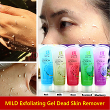 Brand Makeup Exfoliating Gel 120ml Cell Activation Pearl Whitening Face Body Scrub Seaweed Milk Rose Pearl Cleanser