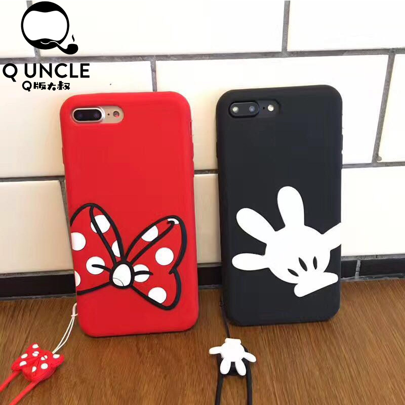 Q UNCLE Cartoon Minnie Mickey Mouse Soft Silicon Shockproof Phone
