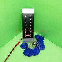 Slender Body Door Lock 125khz Rfid Card Entry Management EM Card Contact Keypad Entry Controller Wirgand in&out Entry door Reader