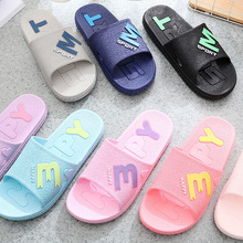 Summer Women Slippers for Non-slip Slides Bathroom Letter Beach Slipper Casual Outdoor Breathable Sandals Flip Flops 2019 New suojialun women sandals 2019 summer new fashion butterfly knot beach flip flops ladies flat casual non slip slides slipper