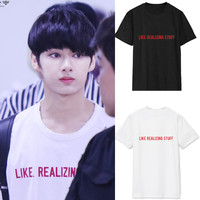 Seventeen Combination Of The Surrounding Text Junhui With T Shirt Shirt Men And Women In Summer