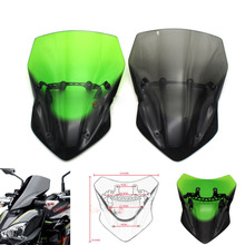 New High Quality Motorcycle Accessories Windscreen Windshield For KAWASAKI Z900 Z 900 2017-2018 mtkracing for kawasaki z900 z 900 2017 2018 motorcycle accessories windscreen windshield plus long section increase high