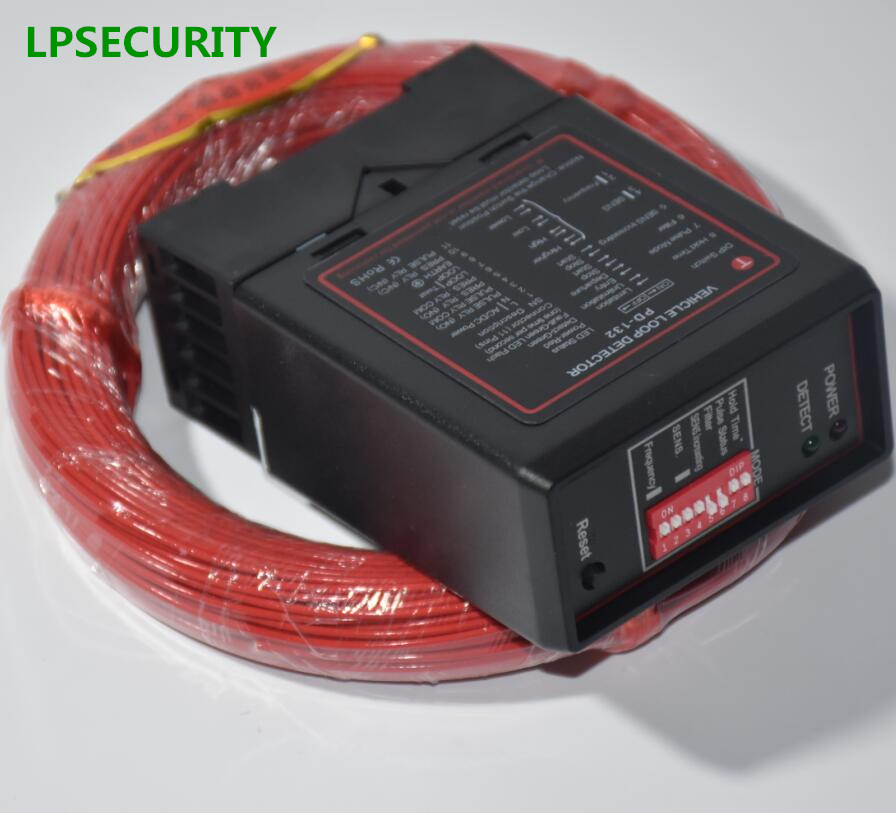 LPSECURITY 50m Cable Single Channel Inductive Vehicle Loop Detector For Gate Barrier Operators