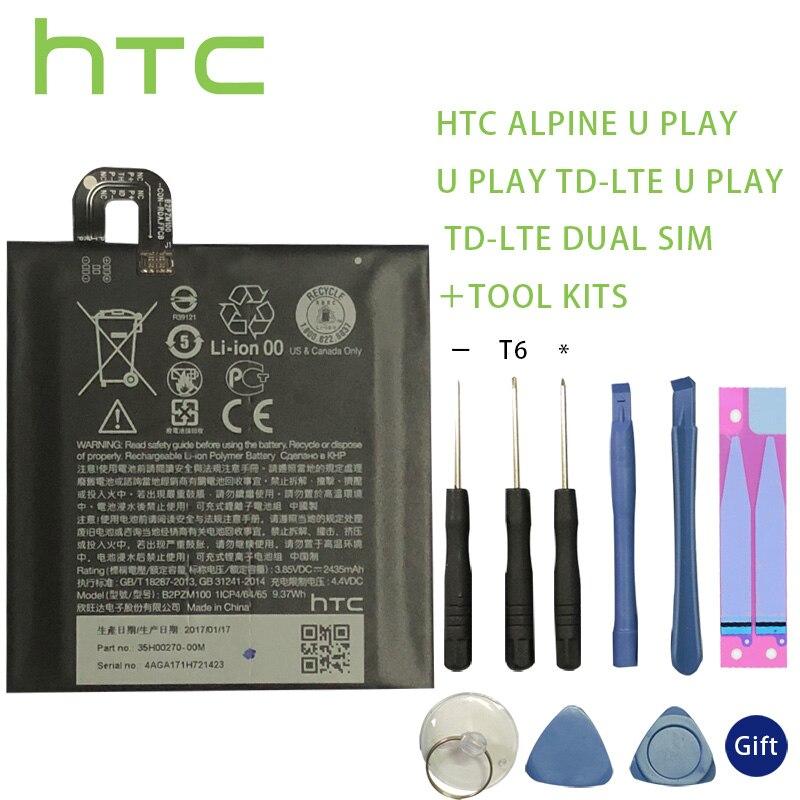 100% original htc b2pzm100 bateria apto para htc alpine, u jogar, u jogar TD-LTE, u jogar TD-LTE baterias de sim duplo batterij + ferramenta