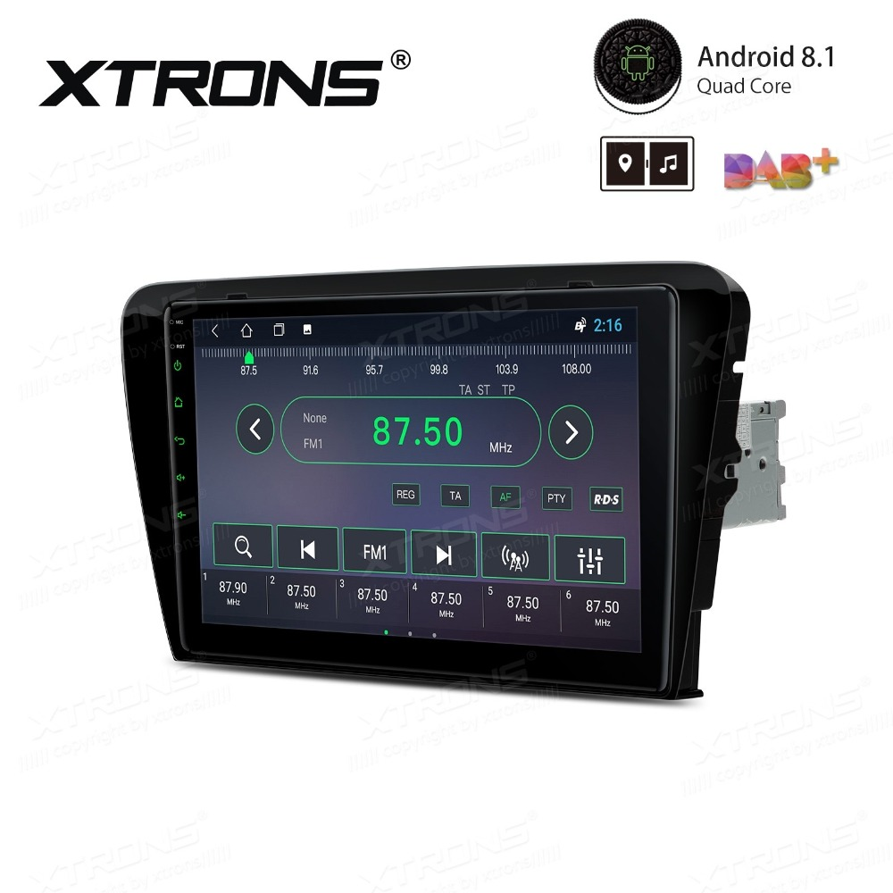 """Perfect 10.1"""" Android 8.1 OS Car Multimedia Navigation GPS Radio for Skoda Octavia 2014 2015 2016 with Split Screen Function Support 0"""