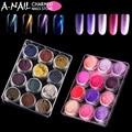 12 color/set Cat Eyes Magnet Nail Glitter and 12color Mocha Gradient Nail Glitter Shimmer Shell UV gel Powder Nail Art Pigment