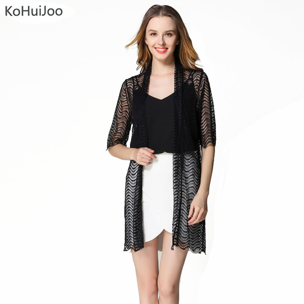 Long lace cardigan - Kohuijoo Spring Summer Womens Blouse Long Lace Cardigan Sunscreen Long Sleeve Tops Blouse Cardigan Sun Lace