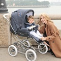 Бесплатная доставка королевская семья детские коляски детские тачку двусторонний амортизаторы четыре колеса детские коляски автомобиль