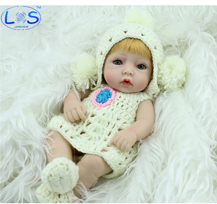 LONSUN Angel Girl Silicone Reborn Dolls Hobbies Stuffed Toys Accessories Dolls Bedtime Early Education Girl Toys Christmas Gift the christmas angel