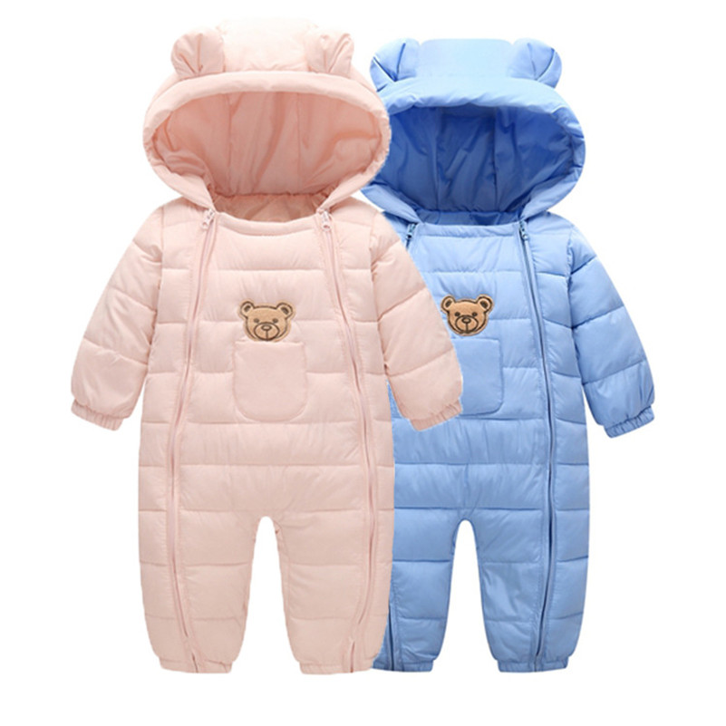 MBBGJOY Baby Rompers Winter Babys Boys Girls Outerwear Premium Warm Clothes 0-16M Kids Jumpsuit Baby Cotton Crawling Clothing baby winter outerwear