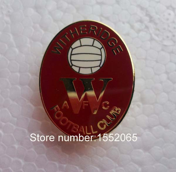 custom fc soccer emblem witheridge football club lapel pin badge